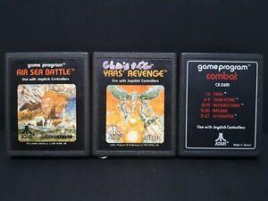 """Lot Of 3 - Atari 2600 Video Games """" Yars Revenge"""" """"Air Sea Battle"""" """"Combat""""."""