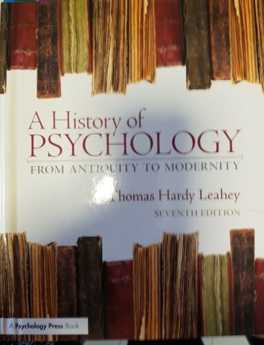 1 of 1 - A History of psychology seventh edition by Leahey
