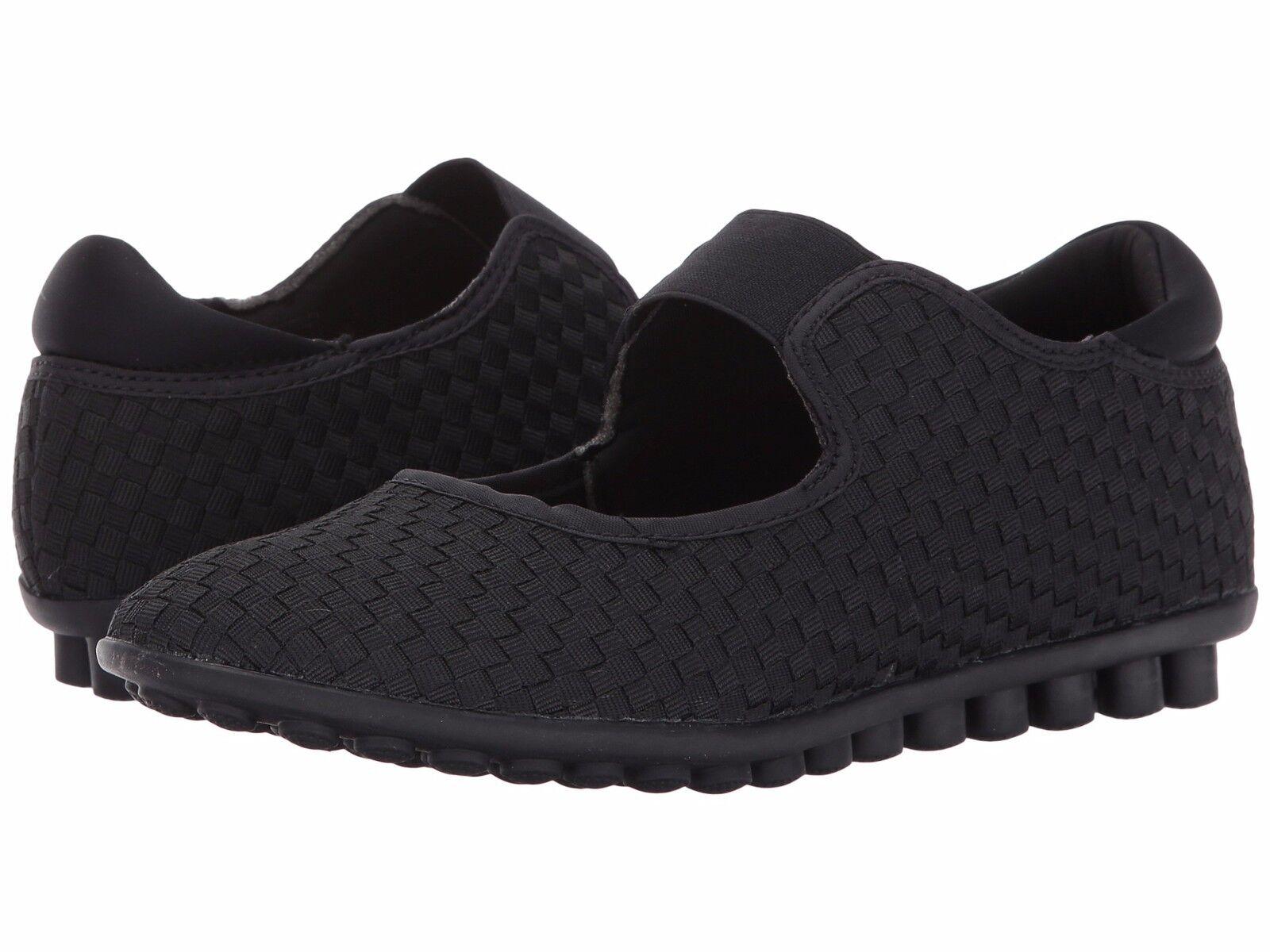 Chaussures Femmes Bernie Mev Kendra entrelacé Élastique Plat Noir  NEUF