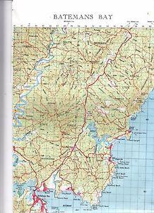 Batemans-Bay-NSW-8926-1-100-000-topographic-map-New-freepost-worldwide