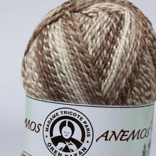 Wolle Garn Häkelgarn Strickgarn Baumwolle Cotton Acryl 3x200 g Ören Bayan ANEMOS