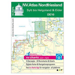 Nordfriesische Inseln Karte.Details Zu Nv De 10 Nordsee Nordfriesland Nordfriesische Inseln Sylt Helgoland Eider