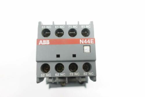 BRAND NEW ABB N44E CONTACTOR 110V COIL PROTECTIVE RELAY R84