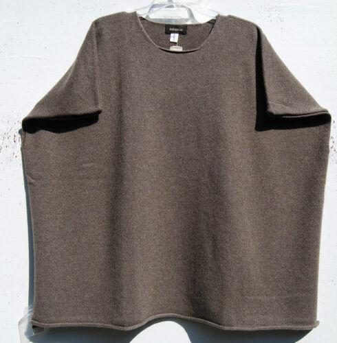 O 1050 Eskandar S Nwt Sweater Cashmere Lysebrun Poncho Håndklædt Boxy 6wagwx0q
