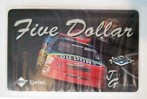 1-Phone-cards-Jeff-Gordon-Nascar-Assets-Five-Dollar