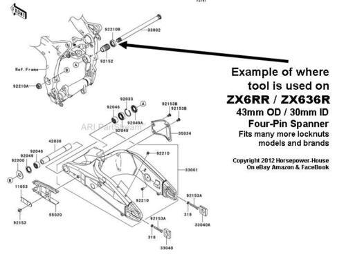 30mm SPECIAL SOCKET TOOL for SWINGARM PIVOT LOCK NUT KAWASAKI ZX-10R ZX10 04-14