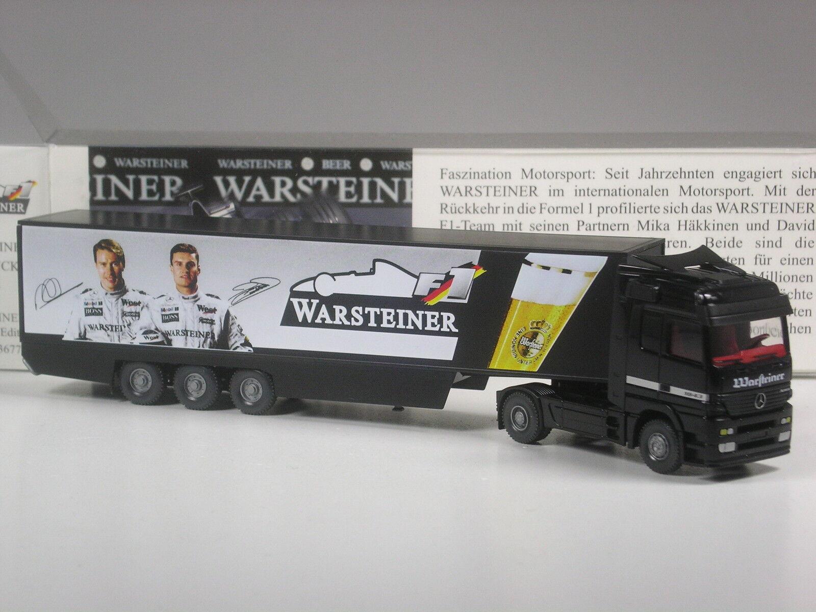 Selten  Wiking MB Actros Warsteiner Formel 1 Team 1998 1998 1998 M. Häkkinen in OVP 011859