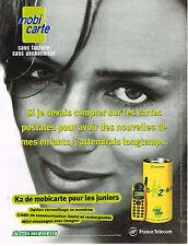 PUBLICITE ADVERTISING 024   1999   FRANCE TELECOM   MOBI CARTE K2
