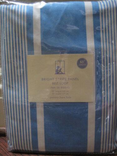 "POTTERY BARN ~ BRIGHT STRIPE PANEL ~ BELT LOOP ~ BLUE ~ 63/"" LENGTH ~ PB KIDS"