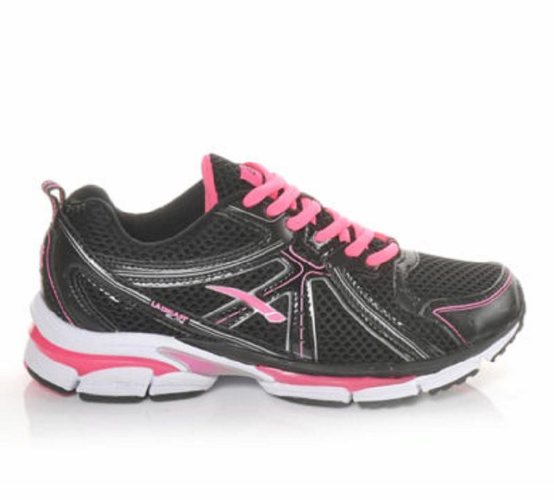 NEW L.A Gear Pursuit Elite femmes Athletic baskets Running chaussures Blk rose Sev.szs