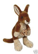 Ravensden Plush Fur Soft Plush Kangaroo with Baby 22cm FRSO57