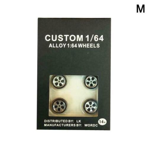 O6Z6 Gumm S3Q1 For Matchbox Tomy 1//64 Alufelgen benutzerdefinierte Hot Wheels
