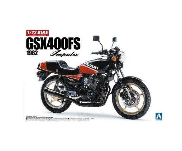 Aoshima 05395 Suzuki GSX400FS 1982 'Impulse' Motorcycle Plastic Kit Scale 1 12th