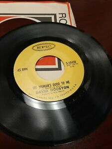 45-Record-David-Houston-My-Woman-039-s-Good-To-Me-Lullaby-to-VG-Free-Shipping