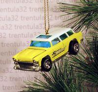 Jc Whitney Chevy Nomad Station Wagon Chevrolet Yellow Christmas Ornament Xmas