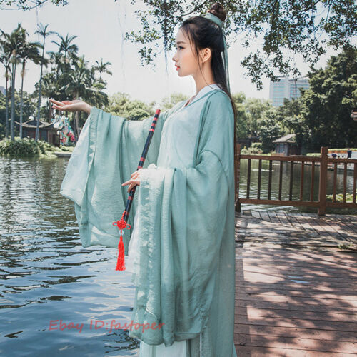 Women/'s Dress Ancient Costume Hanfu 3 Pcs Set Cosplay Dance Dress Han Swordsman