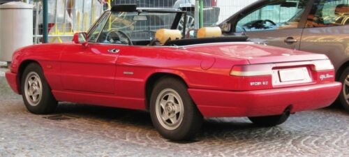 Supporto dritti a sinistra ALFA ROMEO 115 SPIDER SERIE 4 bracket Hood Cover 1990-93