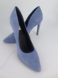 c23baa5f038 H M Real Suede Court Shoes Powder Blue UK 3.5 EU 36 LN09 39 SALEs