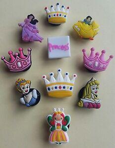 10 X Connecteur Chaussure/shoe Charms Pour Sabots/crocs * Pour Princesses-hoe Charms Für Clogs/crocs* Für Prinzessinnen