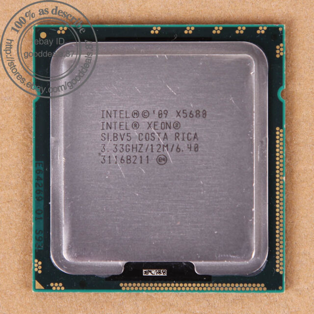 Intel Xeon X5680 - 3.33 GHz (BX80614X5680) LGA 1366 SLBV5 CPU Processor 6.4 GT/s