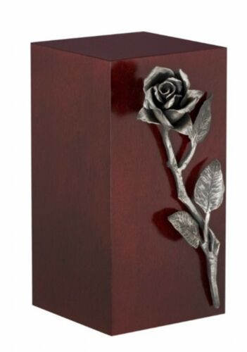 UU110020A Beaminster Wooden Cremation Ashes Urn Rose Steel