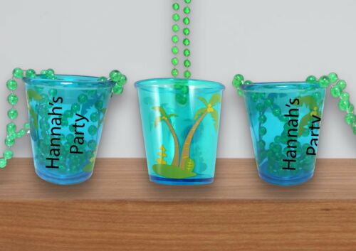 8 x personalised Hen Party Do//Shot Glasses 4 astd colours Necklace Accessories