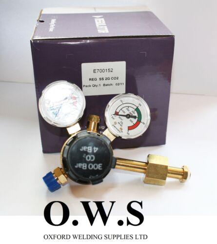 Parweld CO2 Single Stage Dual Gauge Welding Gas Regulator