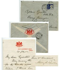 NEW-SOUTH-WALES-1903-Governor-Harry-Rawson-Envelope-amp-autograph-letter