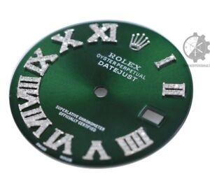 To-Fit-Rolex-Datejust-36mm-1-2-CT-Diamond-Roman-Green-Dial
