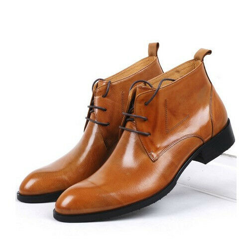 Fulinken New Genuine Leather lace up oxford formal Dress Shoes Mens boots Shoes