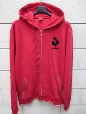 Veste à capuche LE COQ SPORTIF rétro vintage rouge tracktop XXL