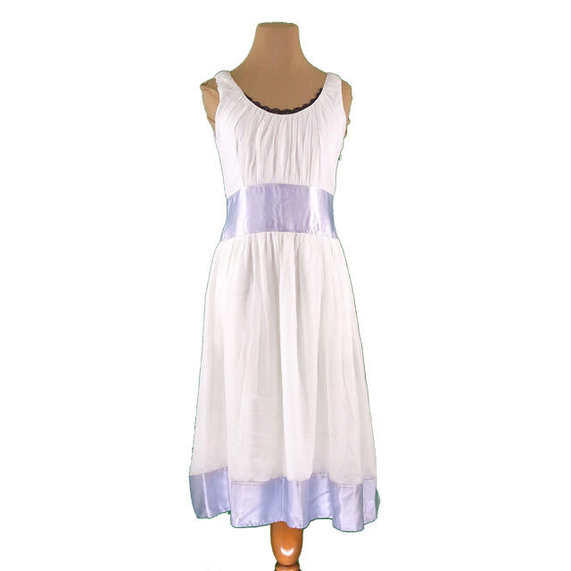 Chloe One piece White bluee Woman Authentic Used I481