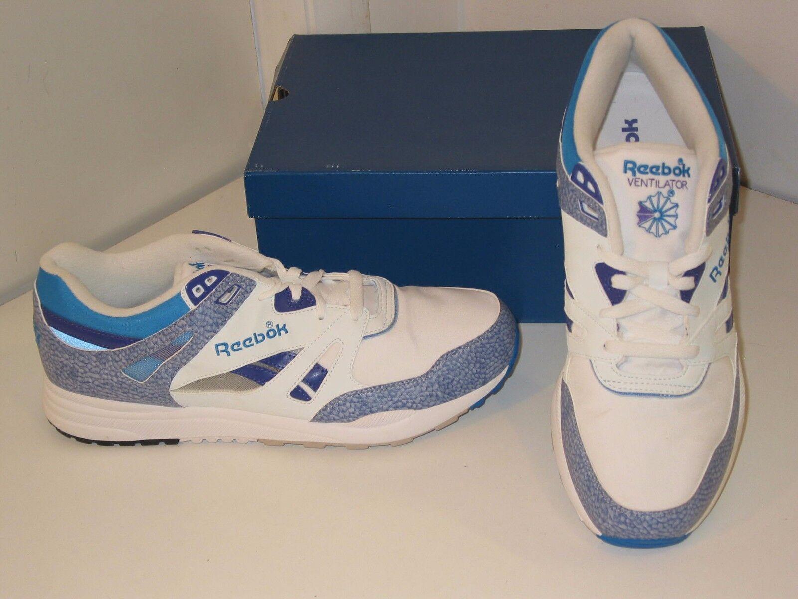 Reebok Ventilator Running Training White, bluee & Purple Sneakers shoes Mens 12
