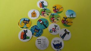 Pre Cut One Inch Bottle Cap Images Pete the Cat Free Shipping