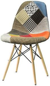 Sedia-modello-Dsw-Patchwork-Sedie-Multicolore-gambe-in-legno-da-cucina-soggiorno