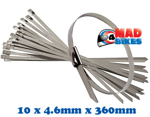 ZIP STRAPS FOR USE ON MOTORCYCLE EXHAUST REPAIRS STAINLESS STEEL CABLE TIES