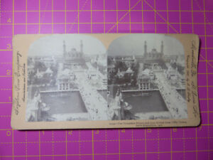 Antique-Stereoscope-Photograph-Trocadero-Palace-Paris-Expo-1900-Stereoview