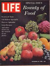 Life Magazine November 23 1962 Birthday The Bounty of Food VG 050316DBE