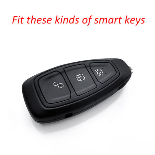 For Ford Blue TPU Smart Key Case Soft Shell Protector Holder Cover Accessories