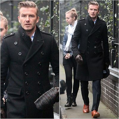 DAVID BECKHAM STYLISH MEN/'S DOUBLE BREASTED PEA COAT-BNWT