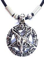 Goat Of Mendes Devil Pentagram Satanic Baphomet Pagan Wicca Pendant Necklace