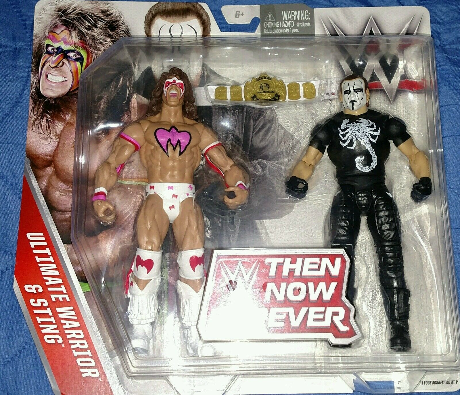CLASSIC ULTIMATE WARRIOR AND STING 8  FIGURES