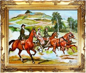 Painting-Oil-Painting-Oil-Frame-Baroque-Pictures-Picture-Oil-Painting-G03985