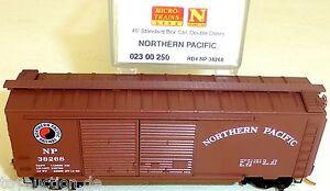 Northern-Pacific-40-Estandar-BOX-CAR-Micro-Trains-023-00-250-N-1-160-emb-orig