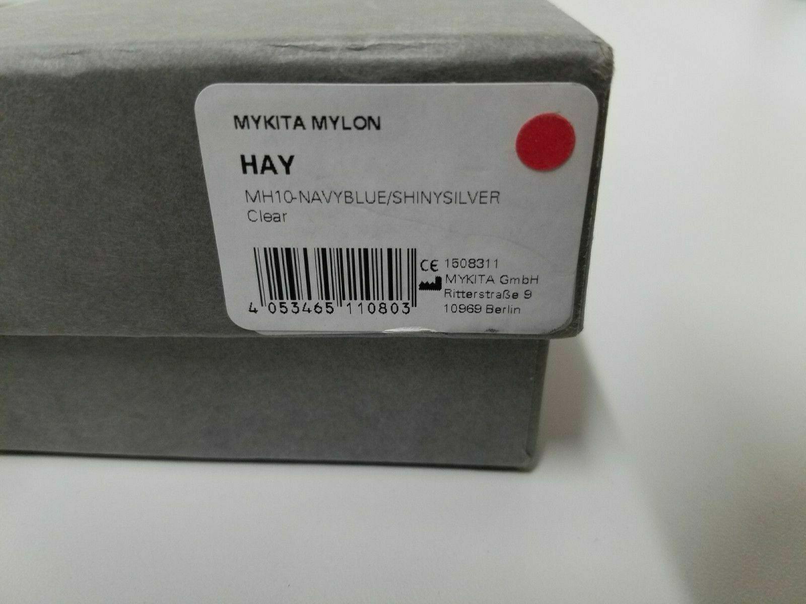 Mykita Mylon Hay - MH10 Navy BlueShinySilver Clear - Size 135 - Col 309