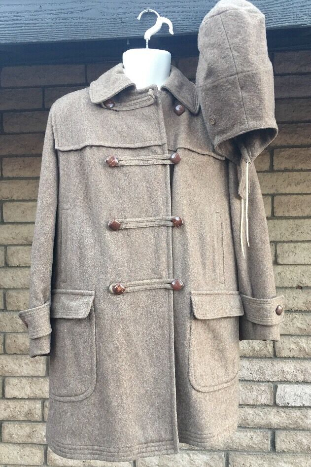 Vintage Gotz Bavarian Loden Austria Austria Austria Germany Wool Hooded Warm Style Women's Coat 396d2b