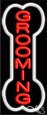 New Grooming Vertical 32x13 Withborder Pet Real Neon Sign Withcustom Options 10990