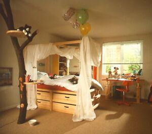 Kinderbett selber bauen  Kinderbett selber bauen Baupläne für Piratenbett Spielbett Gullibo ...