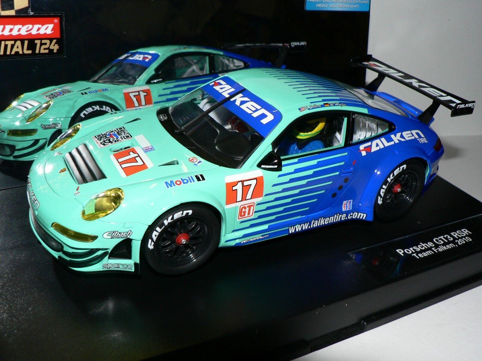 Carrera Digital124 Porsche GT3 RSR TEAM FALCO 2010 23759 NUOVO