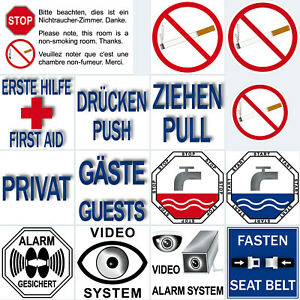Sticker-Pictogram-Smoking-Ban-Push-Guests-Video-Alarm-System-Eye-Protected